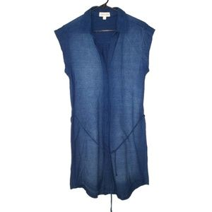 Anthro Cloth & Stone Indigo Cotton Knit Dress S